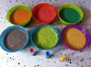 Colores de bizcocho