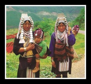 baby wearing Akha mothers