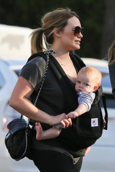 Hilary Duff and baby Luca out on Sunday afternoon.