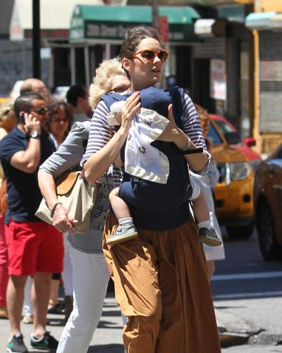 Exclusive - Marion Cotillard And Son Marcel Go Out For A Walk