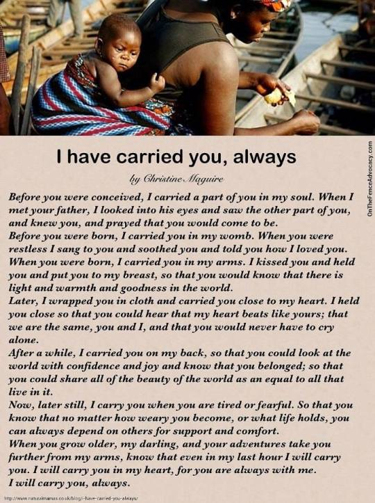 Te he llevado siempre