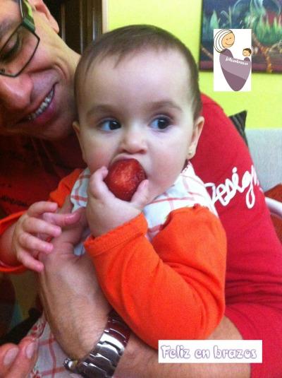 9 meses, cómo le gustan las fresas