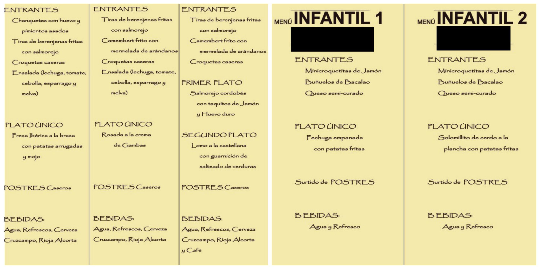 Alimentación Infantil 4 Menús Para Niños Felizenbrazos