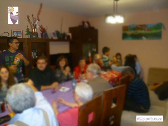 Parte de la mesa en la primera Nochebuena en casa