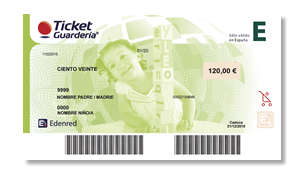 ticket guardería